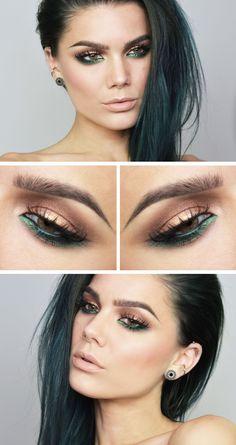 Makeup red eyeshadow make up linda hallberg 37 ideas Full Face Makeup, Day Makeup, Love Makeup, Makeup Inspo, Makeup Inspiration, Stunning Makeup, Unique Makeup, Photo Makeup, Makeup Goals