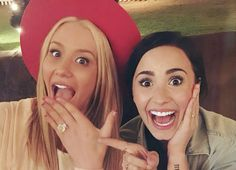 Demi Lovato / Iggy Azalea. Obsessed with this picture!
