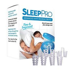 SleepPro(TM) Advanced Anti Snoring and Sleep Device - Stop Snoring Instantly - #1 Natural, Comfortable, And Most Effective Snore Reducing Aid - Clinically Proven to Eliminate Snoring Safely And Easily
