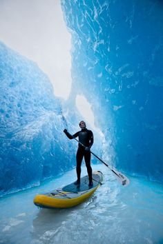 Quite the way to get some SUPing in at the glaciers in Chile!