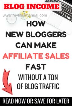 Affiliate marketing for beginners. How new bloggers can make affiliate sales fast without a ton of blog traffic. Learn simple steps to make money blogging no matter how small your audience is. Read now or save it for later. #affiliatemarketing #makemoneyblogging #blogincome #bloggingtips #blogging #blog