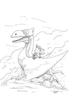 #Ptérodactyle #dinosaur #rabbit #lapin #adventure
