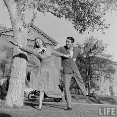 """Good News"" (June Allyson And Peter Lawford) publicity photos for LIFE."