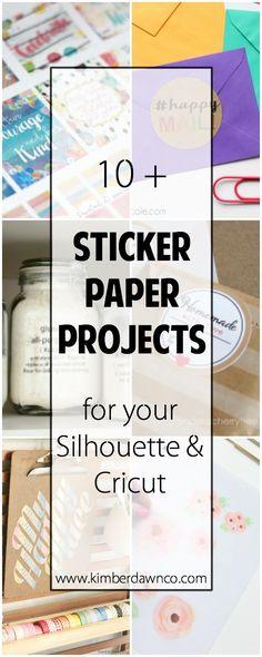 10+ Sticker Paper Projects | www.kimberdawnco.com