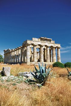 Facade of the Temple of Selinunte, Sicily, Italy