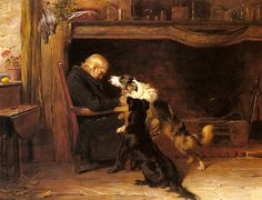 Painted in 1868, Briton Rivière's The Long Sleep depicts a quiet little domestic tragedy.