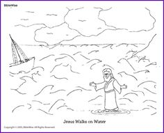 Coloring Jesus Walks On The Water