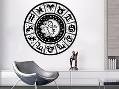 Wall Decals Sun And Moon Zodiac Signs Crescent Dual Stars Night Symbol Sunshine Decal Vinyl Sticker Home Decor Bedroom Art Mural Dear Buyers,