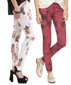 I die! At least one of these I have to own!  20 Printed Jeans You Need To Own For Spring!