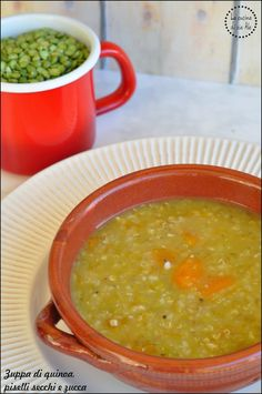 La cucina di zia Ale: Zuppa di quinoa, piselli secchi e zucca