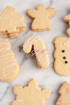 Gluten Free Dairy Free Sugar Cookie Cut Outs from Allergy Free Alaska (Gluten Free Recipes Biscuits) Gluten Free Bakery, Gluten Free Sweets, Edible Christmas Gifts, Christmas Recipes, Christmas Fudge, Christmas Pudding, Edible Gifts, Christmas Cakes, Christmas Things