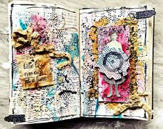PaperArtsy: 2018 Stamping Platforms: Art journal with ECF {by Kate Yetter} Art Journal Pages, Mixed Media Art, Stencils, 18th, Platforms, Stamping, Creative, Painting, Journaling