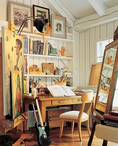 art studio in the barn. i would love to live in a house with a barn as my studio. dream home
