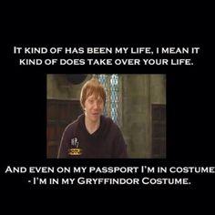 Ron Weasley has a passport.