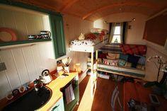Inside our Shepherd Huts