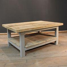 Handmade Rustic Coffee Table with Magazine Shelf.  (The Glynleigh)
