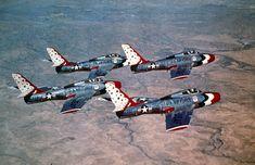 USAF Thunderbirds, mid 50's F-84 Thunderstreak
