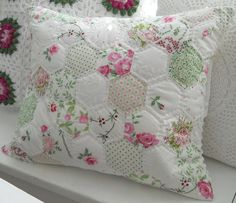 Patchwork Hexagons Pillow ♥