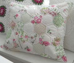 Patchwork Hexagons Pillow ♥