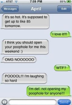 Oh dear Lord.....laughed until I cried reading these.....Most of these are crude, but they are so dang funny!!