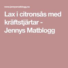 Lax i citronsås med kräftstjärtar - Jennys Matblogg