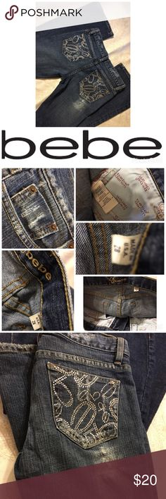 bebe jeans 👖Size 28 Bebe jeans Size 28 - Distressed bebe Jeans