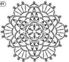 Patterns and motifs: Crocheted motif no. 1864 Patterns and motifs: Crocheted motif no. Crochet Applique Patterns Free, Crochet Snowflake Pattern, Crochet Flower Tutorial, Crochet Lace Edging, Crochet Stars, Crochet Motifs, Crochet Snowflakes, Crochet Diagram, Doily Patterns