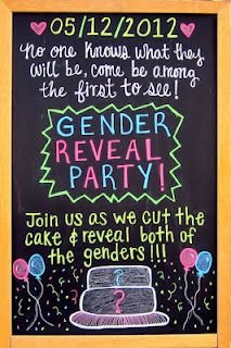 Gender Reveal Party Invite -- possible idea for gender reveal