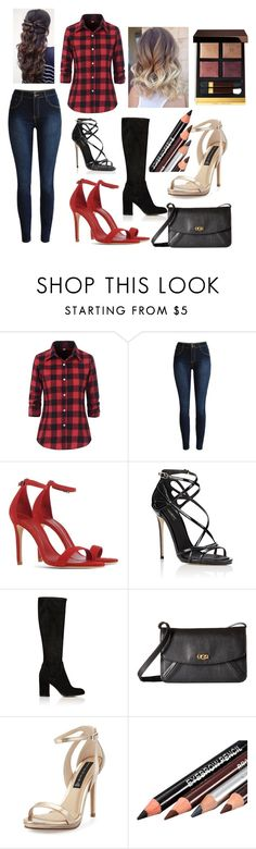 """""""Plaid Outfit"""" by alindsey2021 on Polyvore featuring Schutz, Dolce&Gabbana, Gianvito Rossi, UGG, Steven by Steve Madden and Tom Ford"""