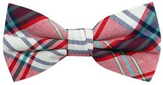 OCIA Mens Cotton Plaid Handmade Bow Tie -OM60