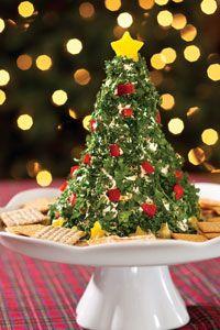 Christmas Tree Cheese Spread