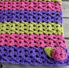 Summer Sorbet Crochet Baby Blanket | AllFreeCrochetAfghanPatterns.com ❁•Teresa Restegui http://www.pinterest.com/teretegui/•❁