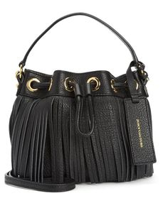 JC--TOPANGA FRINGE LEATHER MINI DRAWSTRING $318.00