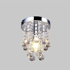 Flush Mount Crystal / Mini Style Modern Crystal,Stainless SteelBulb LED  bulb.Easy to Install!,equal to incandescent light bulbDimension:Plate  Diameter