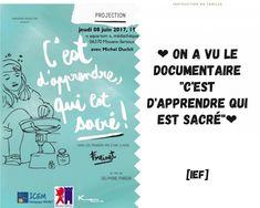 On a vu le documentaire C'est d'apprendre qui est sacré Michel, Boarding Pass, Being A Mom, Documentary, Beginning Sounds