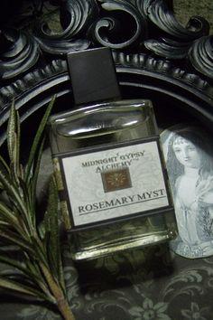 "Rosemary Myst Gypsy Apothecary  Alchemy Natural Perfume Oil 1/2 oz Rosemary, Orange Blossom,Spearmint,Almond, Amber ""Midnight  Gypsy Alchemy"" Natural Perfume ETSY"