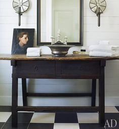 love this bathroom featured in Amelia Handegan's (Architectural Digest) beach cottage on heirloom philosophy blog today