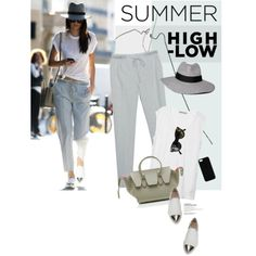 Memorable Summer Outfit by magdafunk on Polyvore featuring polyvore fashion style T By Alexander Wang Miu Miu CÉLINE Abercrombie & Fitch Maison Takuya