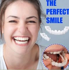 Each person on this planet owns a different set of teeth, that is why we will introduce you to a product that can give that IDEAL SMILE to every person, regardless what kind of teeth they have. Introducing the PERFECT SMILE SNAP ON BRACES. Teeth Care, Skin Care, Perfect Teeth, Teeth Braces, Braces Smile, Fake Braces, Teeth Health, Healthy Teeth, Stained Teeth