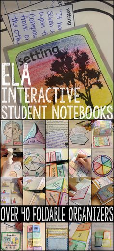 A HUGE bundle of foldable organizers for ELA interactive student notebooks!!