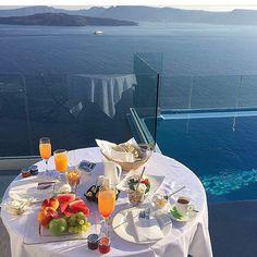 Amazing Breakfast + the View = Astarte Suites... | Astarte Suites Hotel | Santorini, Greece