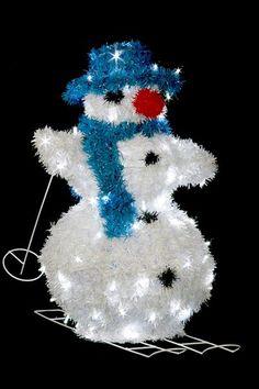 Snehuliak na lyžiach - 860mm - LED - OSLV-01-L
