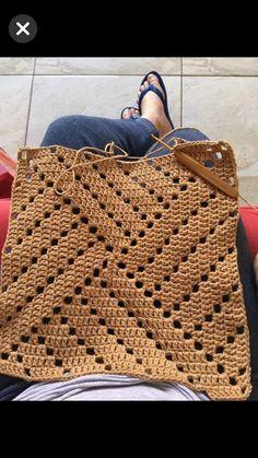 Diy Crafts - Pattern Square Triangle Granny Square Pattern - Knitting and Crochet Crochet Motifs, Crochet Blocks, Granny Square Crochet Pattern, Crochet Diagram, Crochet Stitches Patterns, Crochet Afghans, Crochet Squares, Filet Crochet, Diy Crochet