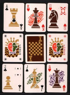 playing cards images | non standard playing cards chess amazing deck of cards with small ...