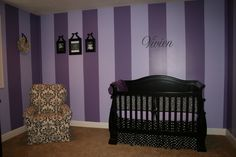 Awesome purple baby girl nursery! (love the idea, but I might try different colors)