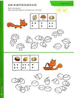 Thema herfst : telspel Games For Kids, Diy For Kids, Crafts For Kids, Fall Games, Autumn Crafts, Autumn Activities, Too Cool For School, Forest Animals, Pre School