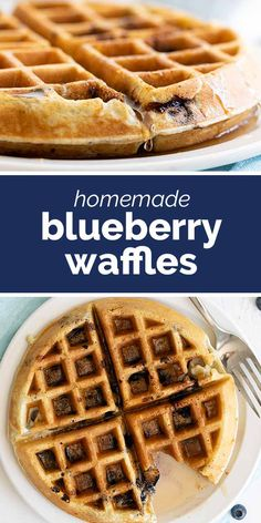 Bursting with blueberry flavor, these tender Blueberry Waffles are a breakfast the whole family loves. They are fast, easy, and the perfect way to make any morning feel special. #breakfast #recipe #blueberry #waffles Delicious Breakfast Recipes, Brunch Recipes, Dessert Recipes, Blueberry Waffles, Pancakes And Waffles, Cheesecakes, Waffle Iron Recipes, Quick And Easy Breakfast, Breakfast Ideas