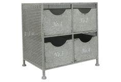 4-Drawer Metal Number Cabinet