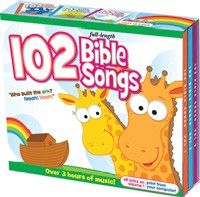 """102 Bible Songs CD 3-Pack-Bring the Bible to life with fun and exciting songs for little souls. You'll hear favorites like """"Who Built the Ark? Noah! Noah!"""" """"Rise and Shine,"""" and """"Lord, I Want to be a Christian."""""""