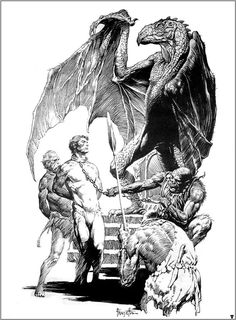 Frank Frazetta, Captive of a mahar.